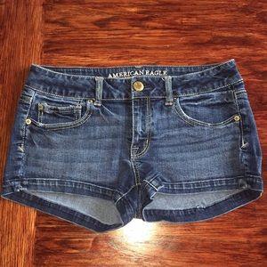 American Eagle Jean Shortie Shorts